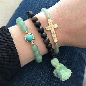 Cara NY bundle of beaded bracelets.